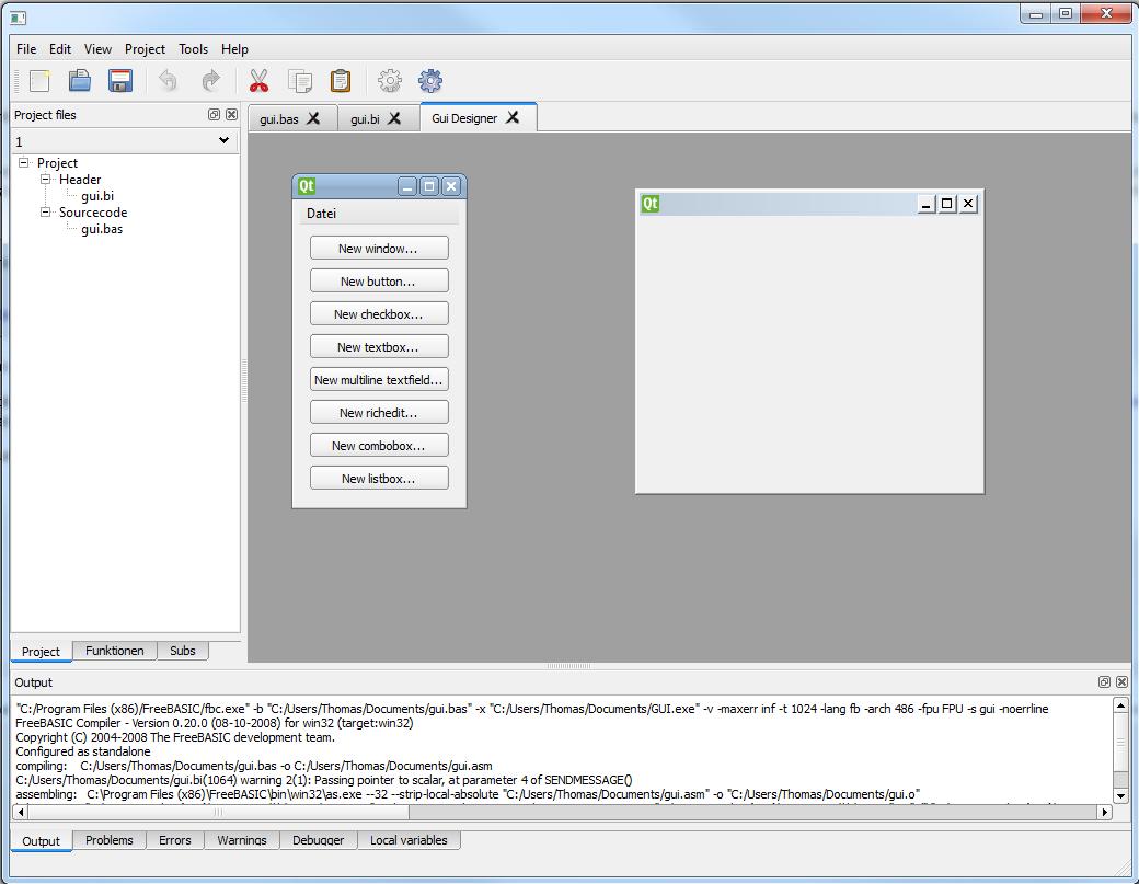 New IDE - Page 2 - freebasic net